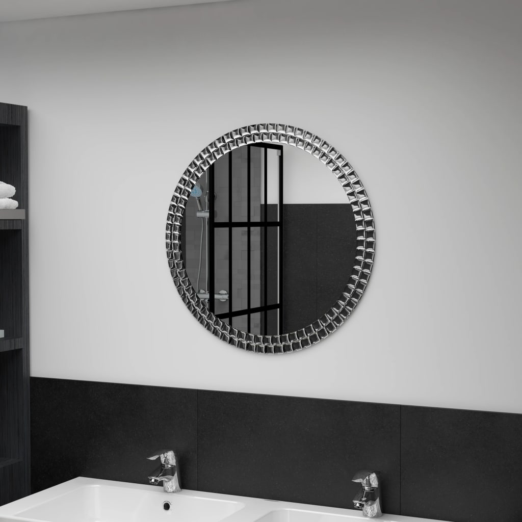 vidaXL Nástěnné zrcadlo 60 cm tvrzené sklo