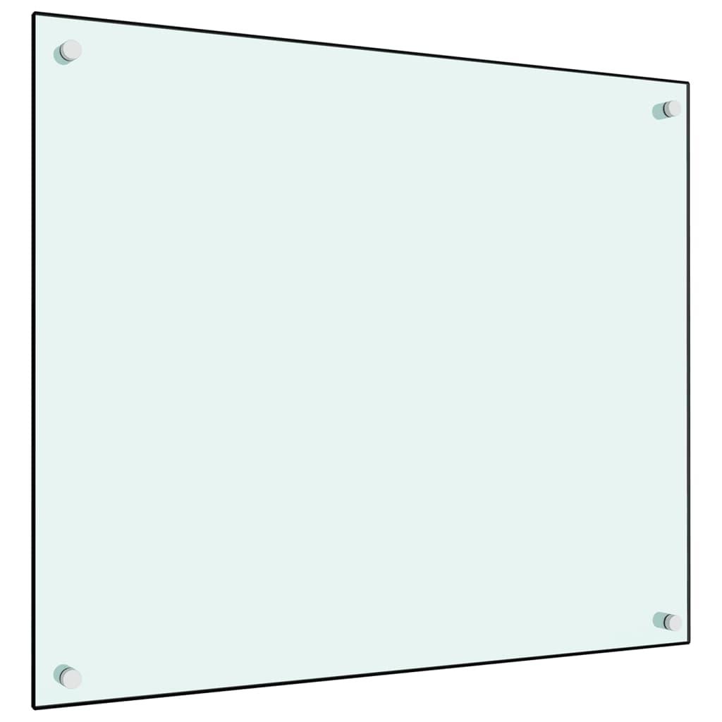 vidaXL Panou antistropi bucătărie, alb, 70x60 cm, sticlă securizată vidaxl.ro