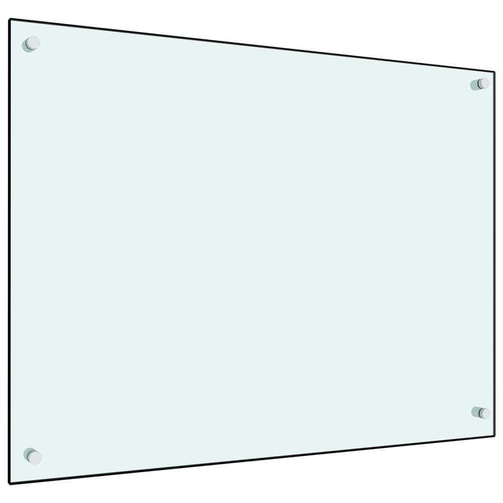 vidaXL Panou antistropi bucătărie, alb, 80x60 cm, sticlă securizată poza vidaxl.ro