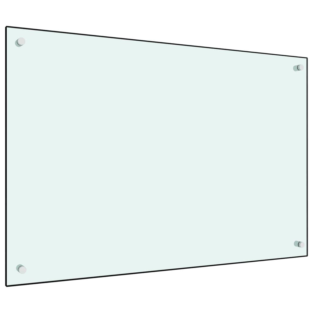 vidaXL Panou antistropi bucătărie, alb, 90x60 cm, sticlă securizată vidaxl.ro
