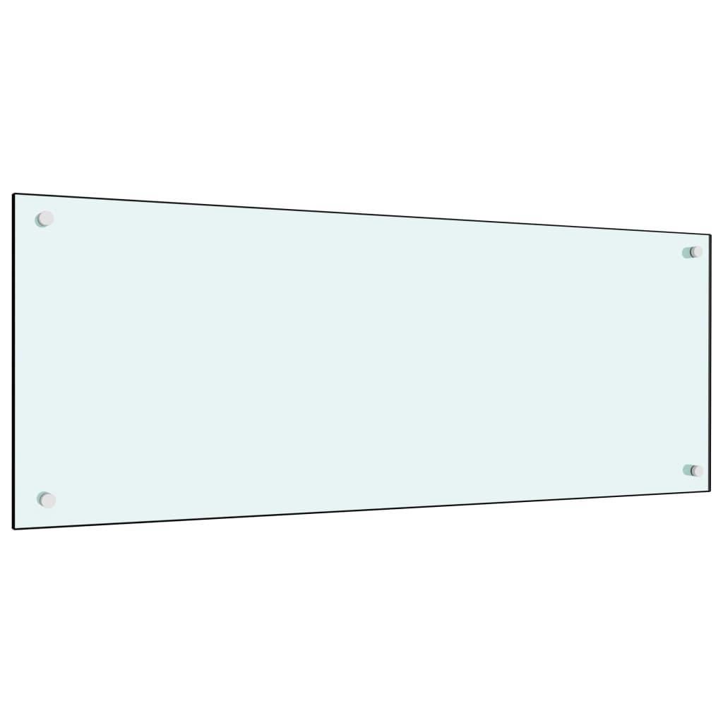 vidaXL Panou antistropi bucătărie, alb, 100x40 cm, sticlă securizată vidaxl.ro