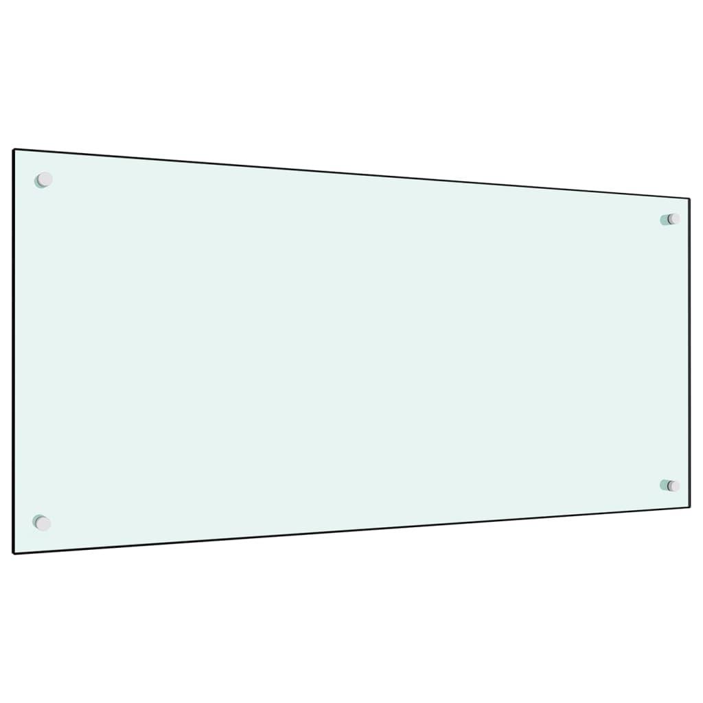 vidaXL Panou antistropi bucătărie, alb, 100x50 cm, sticlă securizată vidaxl.ro