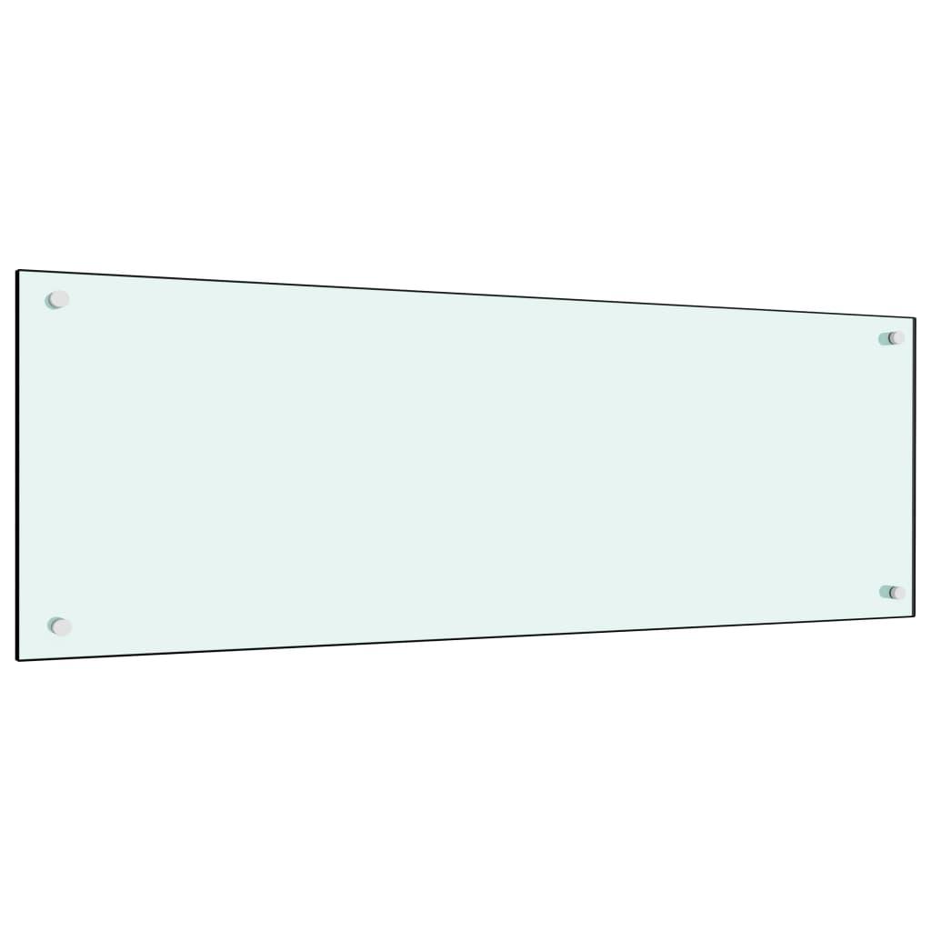 vidaXL Panou antistropi bucătărie, alb, 120x40 cm, sticlă securizată poza vidaxl.ro