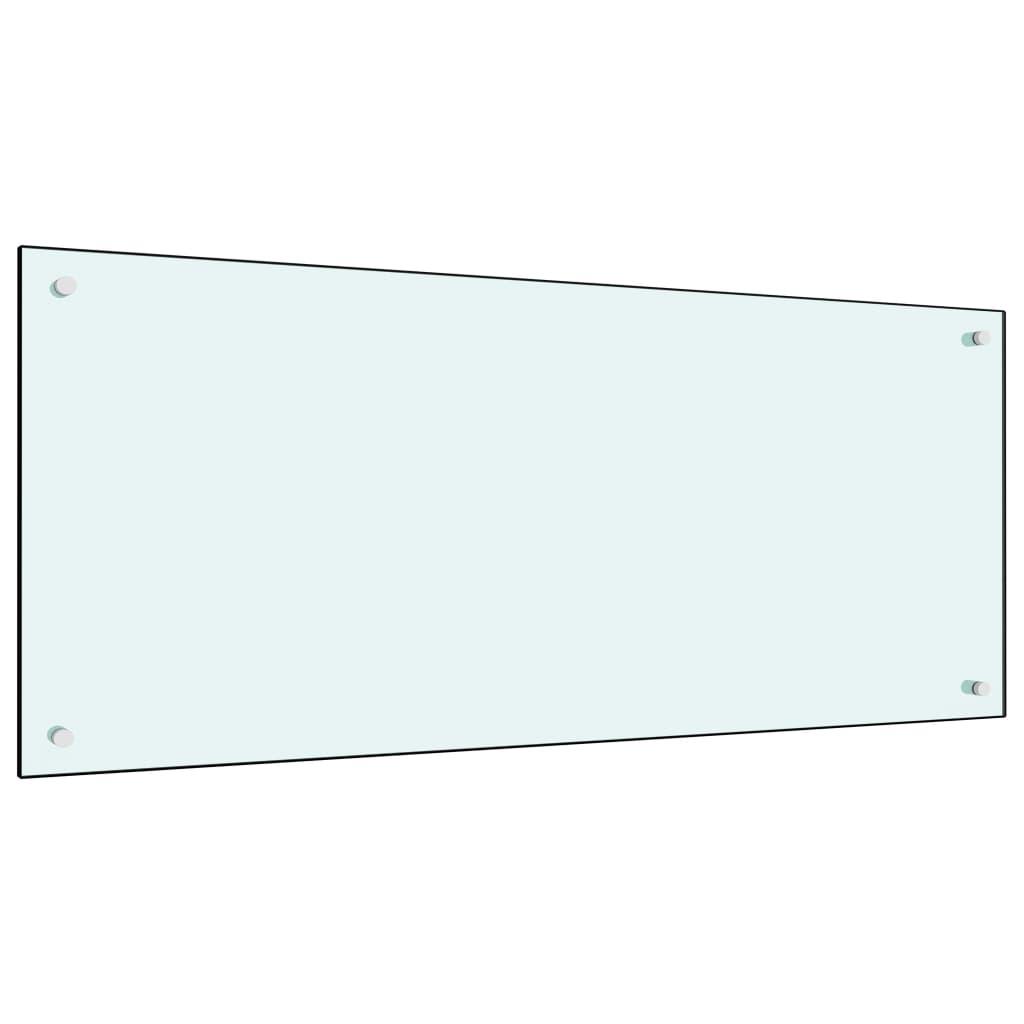 vidaXL Panou antistropi bucătărie, alb, 120x50 cm, sticlă securizată poza vidaxl.ro
