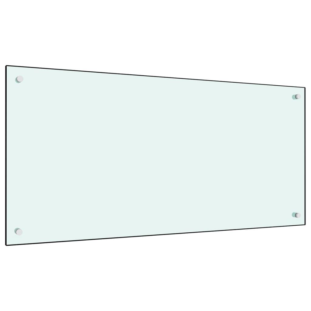 vidaXL Panou antistropi bucătărie, alb, 120x60 cm, sticlă securizată poza vidaxl.ro