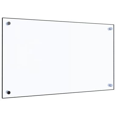 vidaXL Virtuvės sienelė, permatoma, 70x40 cm, grūdintas stiklas[1/9]