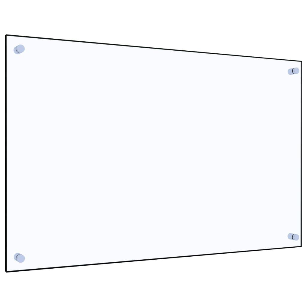 vidaXL Panou antistropi bucătărie transparent 80x50 cm sticlă securiz. poza vidaxl.ro