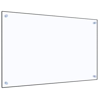 vidaXL Virtuvės sienelė, permatoma, 80x50 cm, grūdintas stiklas[1/9]