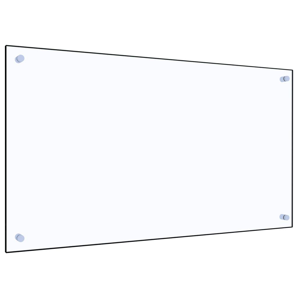 vidaXL Panou antistropi bucătărie transparent 90x50 cm sticlă securiz. poza vidaxl.ro