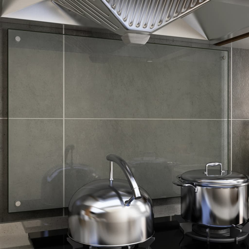 vidaXL Kuchyňský panel průhledný 90 x 60 cm tvrzené sklo