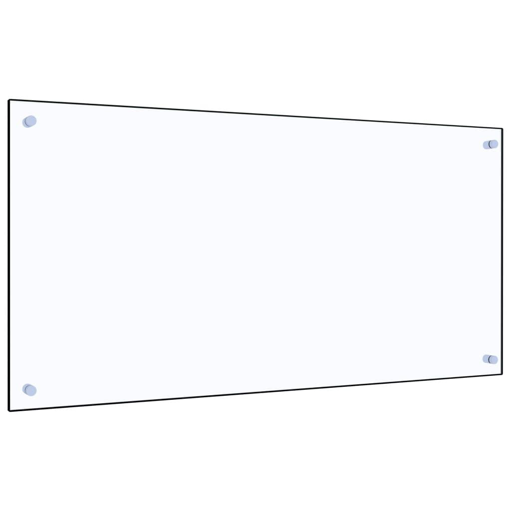vidaXL Panou antistropi bucătărie transparent 100x50cm sticlă securiz. poza vidaxl.ro