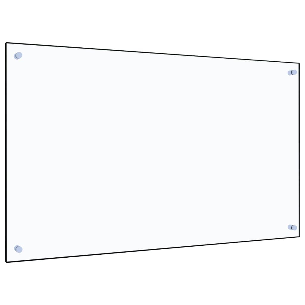 vidaXL Panou antistropi bucătărie transparent 100x60cm sticlă securiz. poza vidaxl.ro