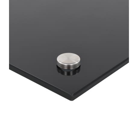 vidaXL Küchenrückwand Schwarz 70 x 50 cm Hartglas[6/9]