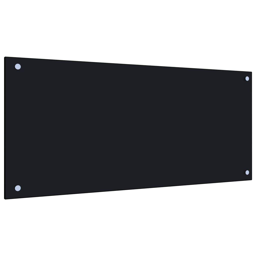 vidaXL Panou antistropi bucătărie, negru, 90x40 cm, sticlă securizată poza vidaxl.ro