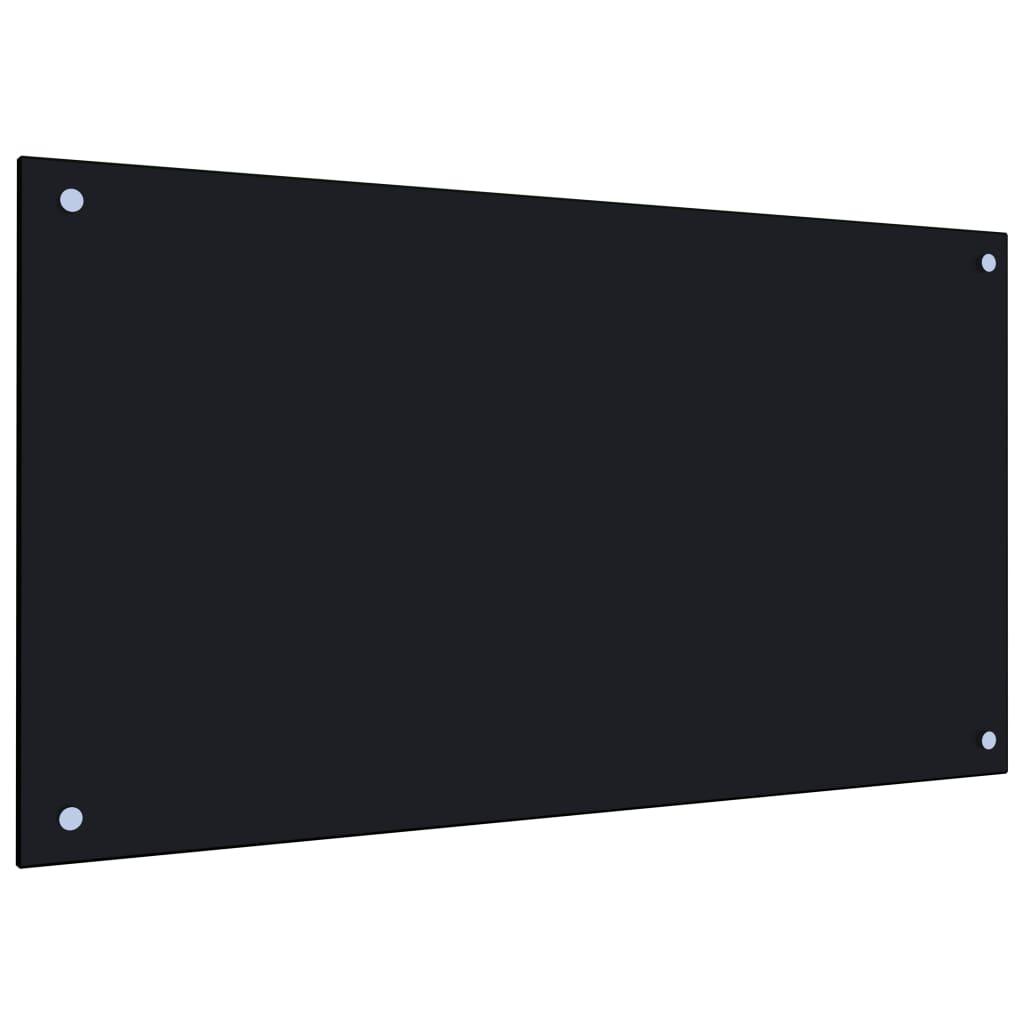 vidaXL Kuchyňský panel černý 90 x 50 cm tvrzené sklo