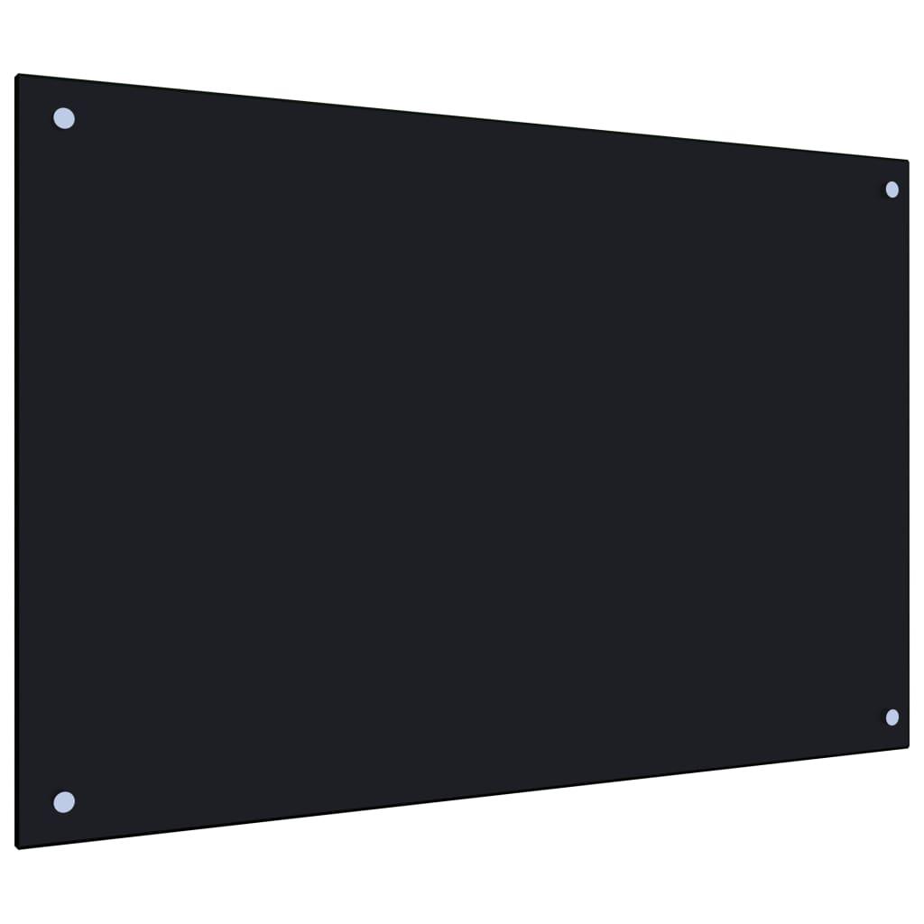 vidaXL Panou antistropi bucătărie, negru, 90x60 cm, sticlă securizată vidaxl.ro