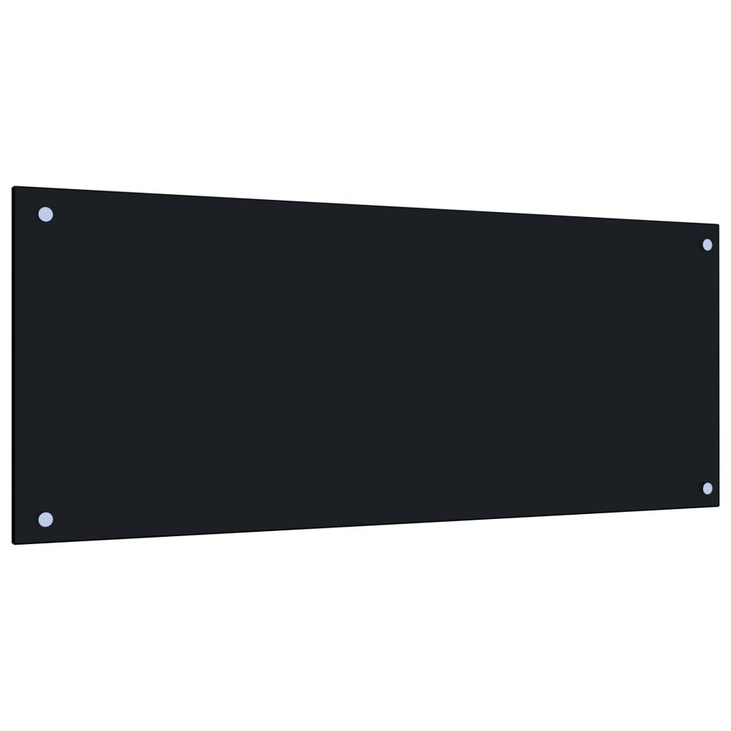 vidaXL Panou antistropi bucătărie, negru, 100x40 cm, sticlă securizată vidaxl.ro