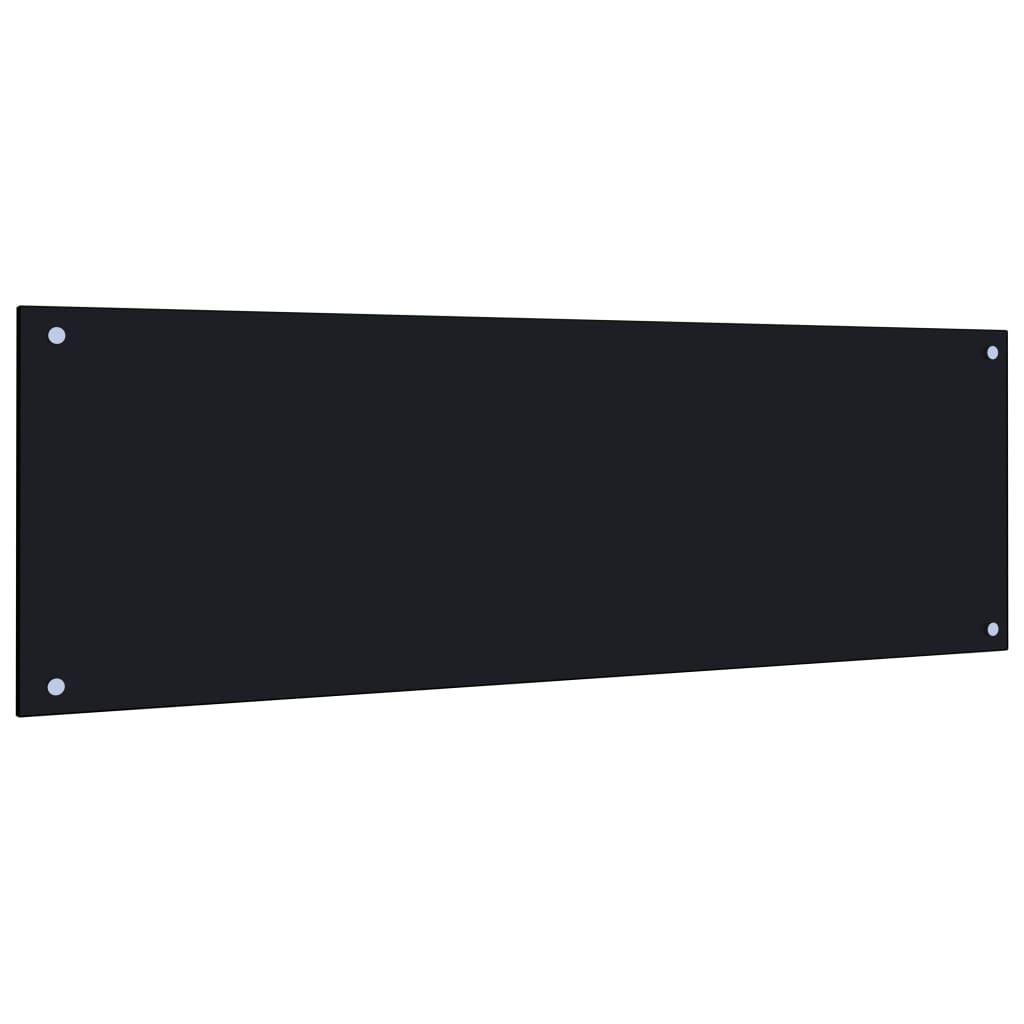 vidaXL Kuchyňský panel černý 120 x 40 cm tvrzené sklo