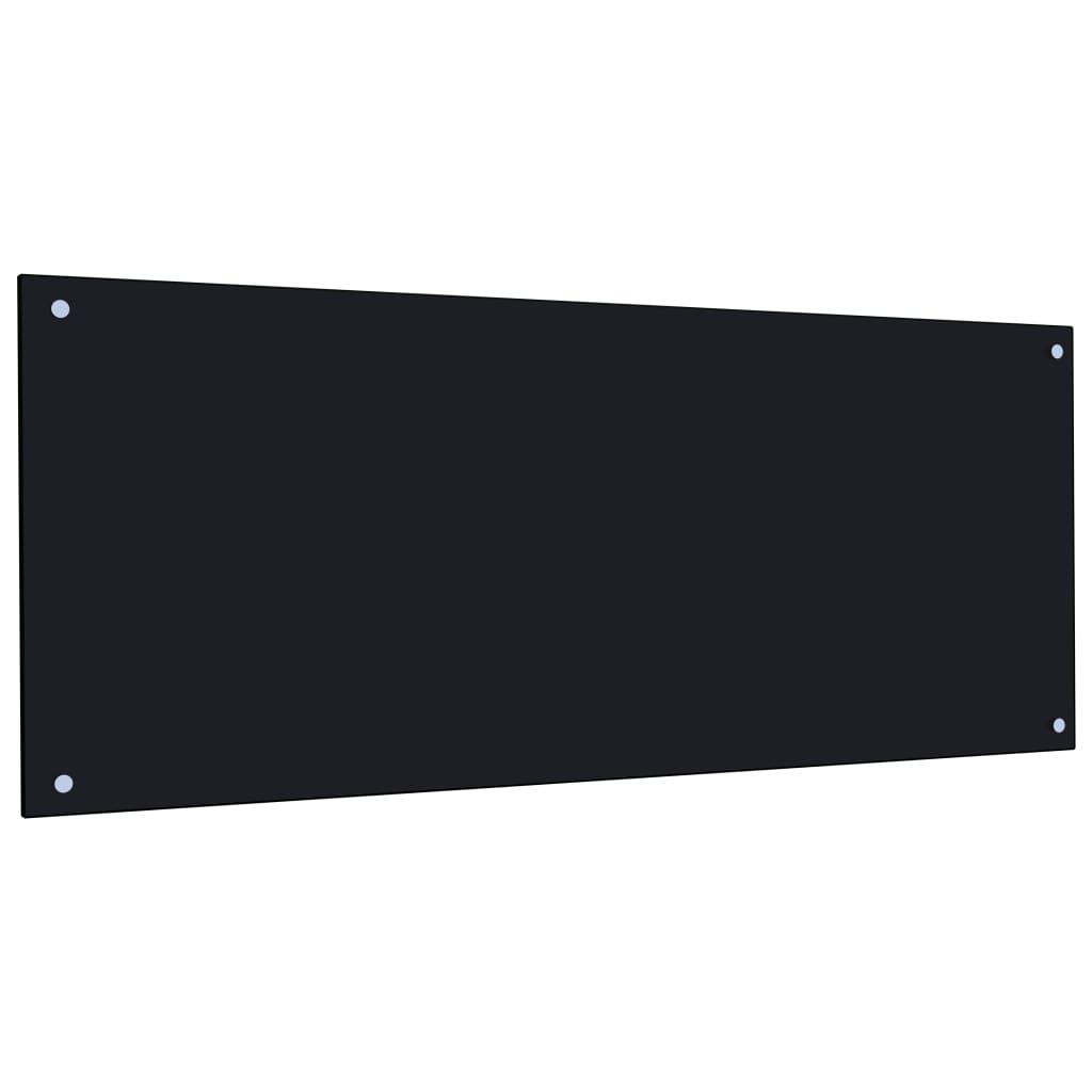 Kuchyňský panel černý 120 x 50 cm tvrzené sklo