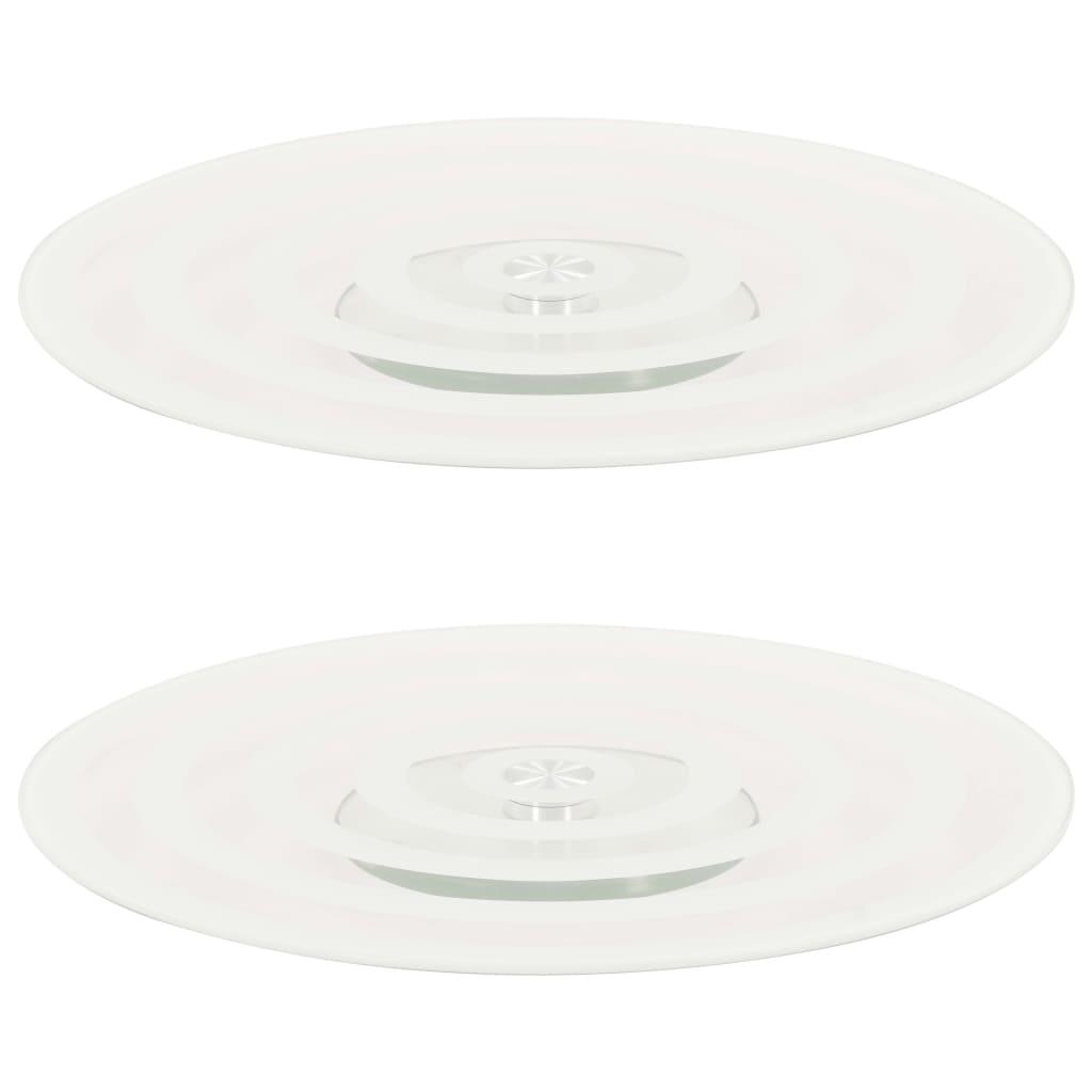 vidaXL Platouri rotative 2 buc. transparent, 30 cm, sticlă securizată vidaxl.ro