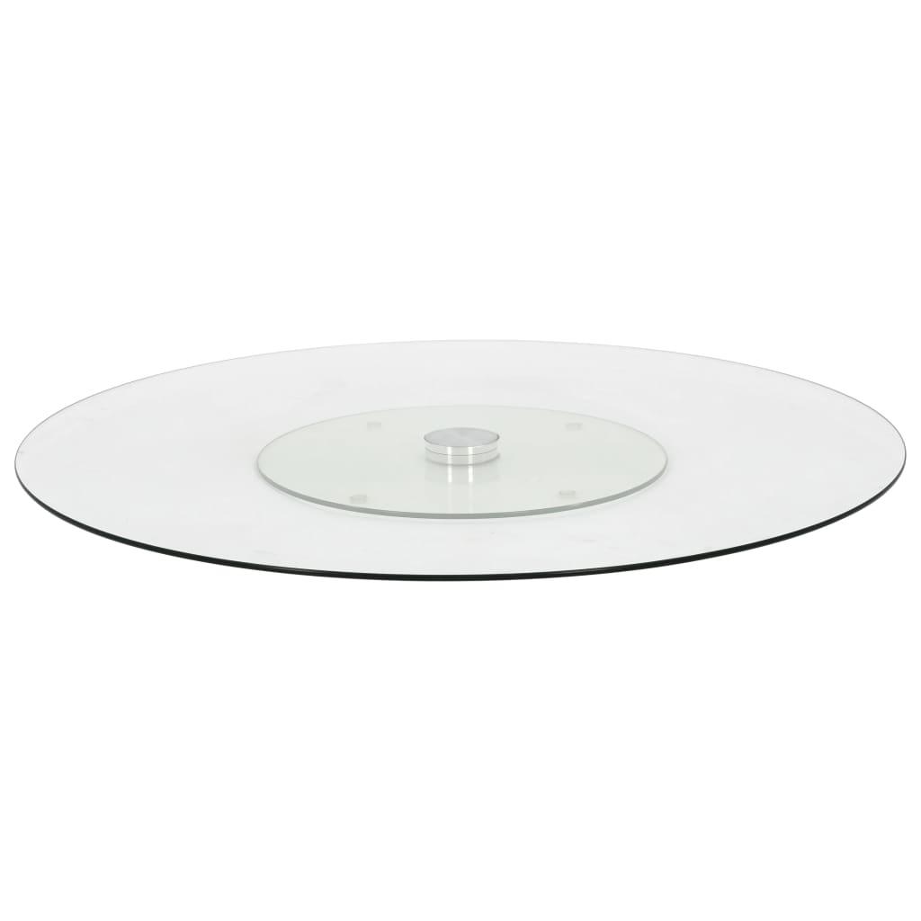 vidaXL Platou servire rotativ transparent, 60 cm, sticlă securizată vidaxl.ro