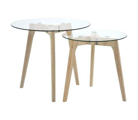 vidaXL Set de mese laterale, 2 piese, sticlă securizată