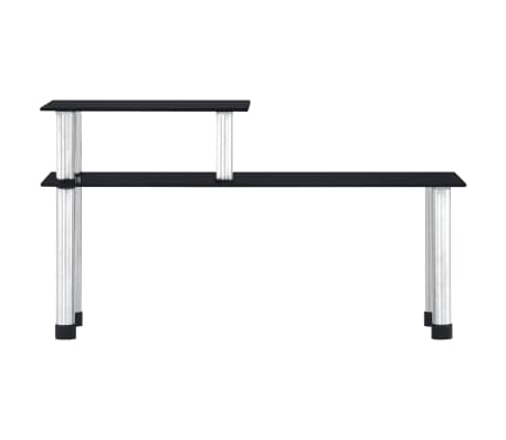 vidaXL Küchenregal Schwarz 45×16×26 cm Hartglas[2/6]