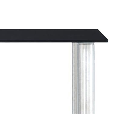 vidaXL Küchenregal Schwarz 45×16×26 cm Hartglas[5/6]