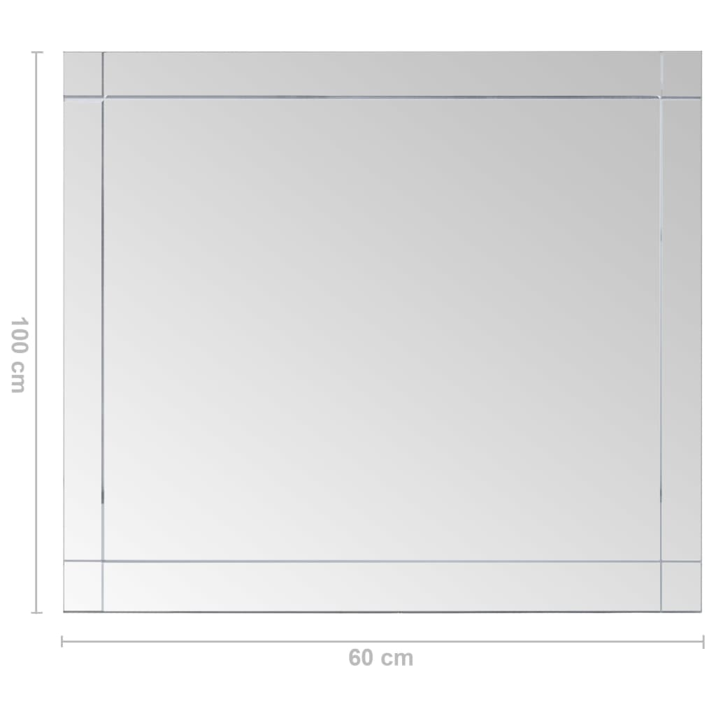 vidaXL-Wandspiegel-100x60cm-Glas-Spiegel-Badspiegel-Kosmetikspiegel-Deko Indexbild 6