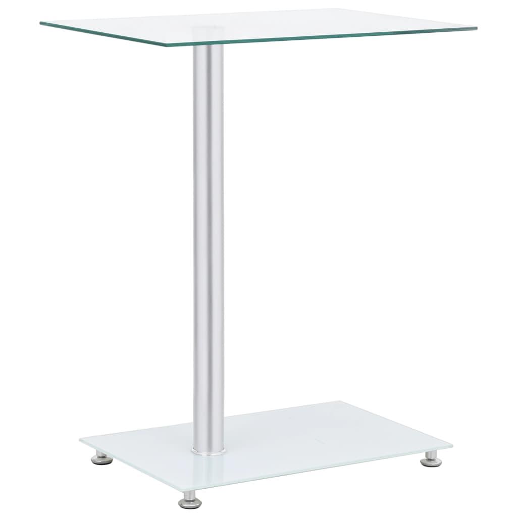 Odkládací stolek ve tvaru U průhledný 45x30x58 cm tvrzené sklo