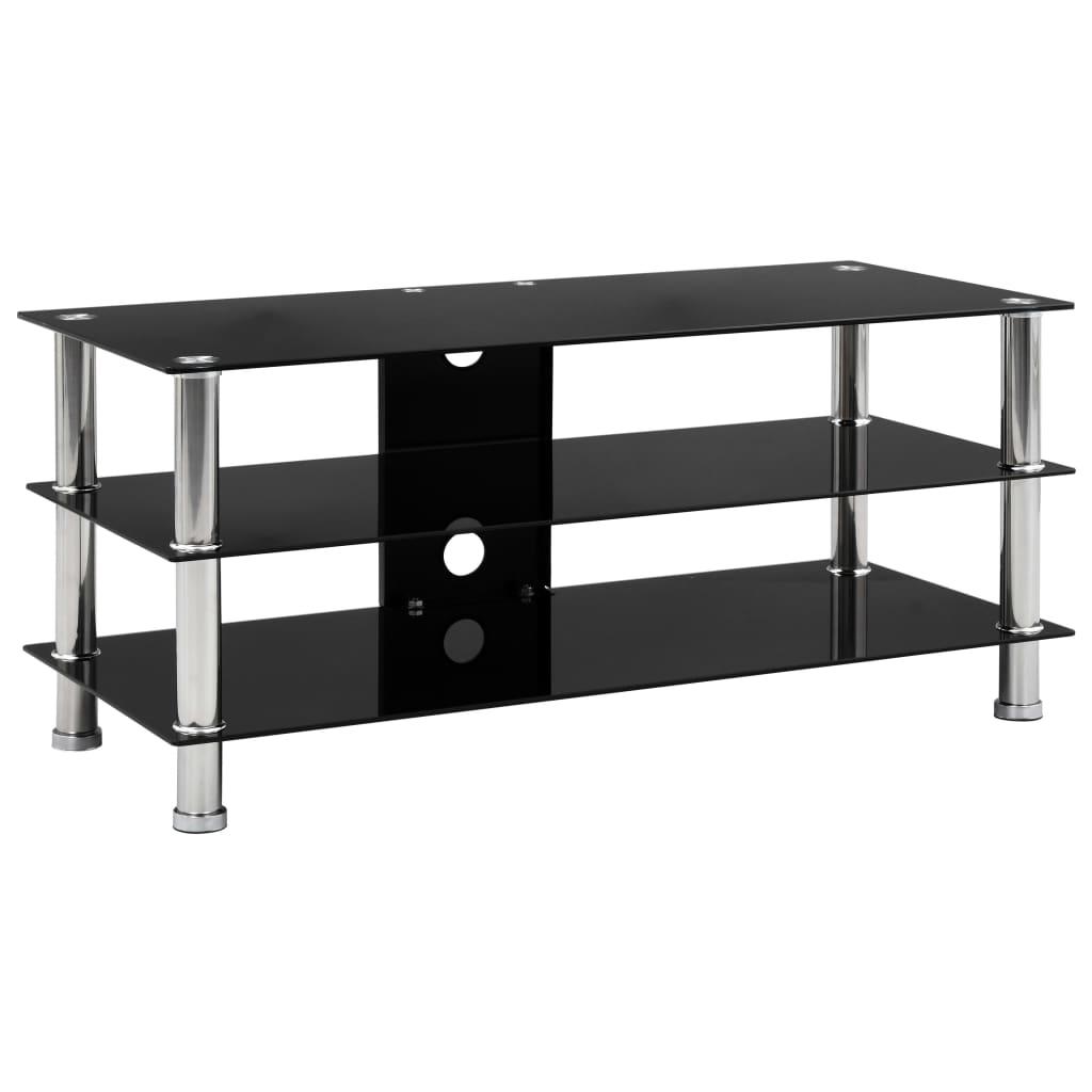 vidaXL TV stolek černý 90 x 40 x 40 cm tvrzené sklo
