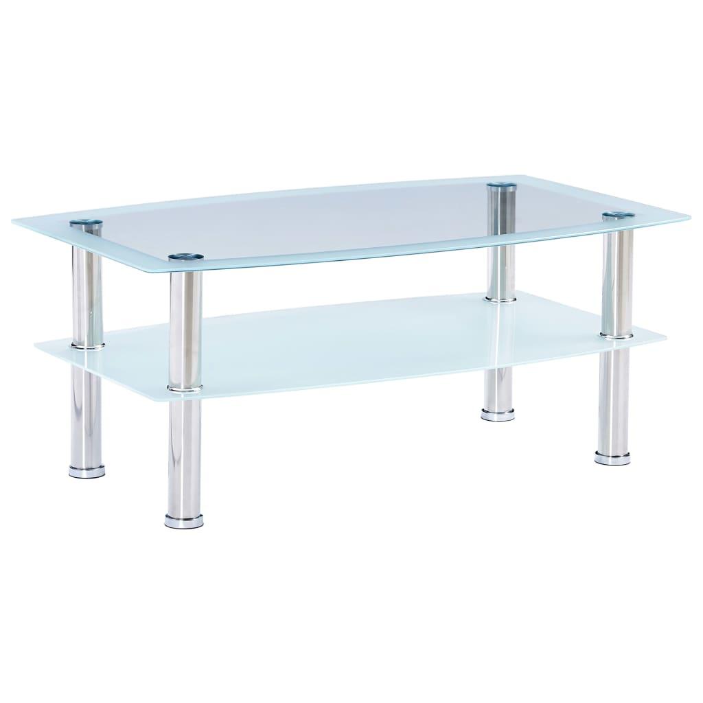 vidaXL Konferenční stolek bílý 100 x 60 x 42 cm tvrzené sklo