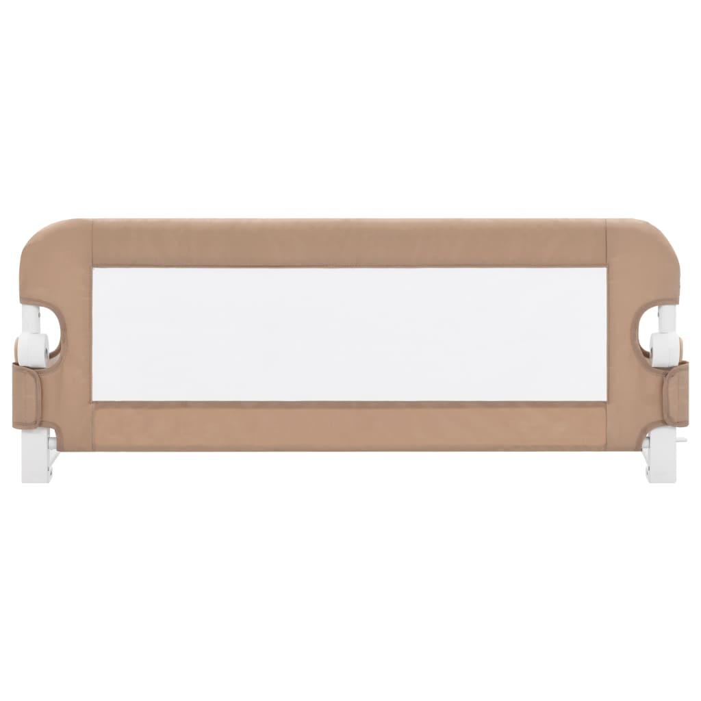 vidaXL Sigurnosna ogradica za dječji krevet bež 102 x 42 cm poliester
