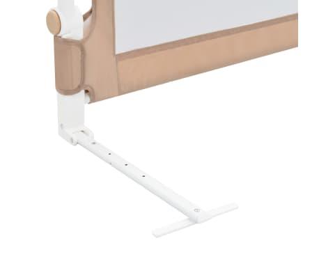 vidaXL Apsauginis turėklas vaiko lovai, taupe sp., 150x42cm, poliest.[6/6]