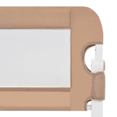 vidaXL Apsauginis turėklas vaiko lovai, taupe sp., 150x42cm, poliest.[5/6]