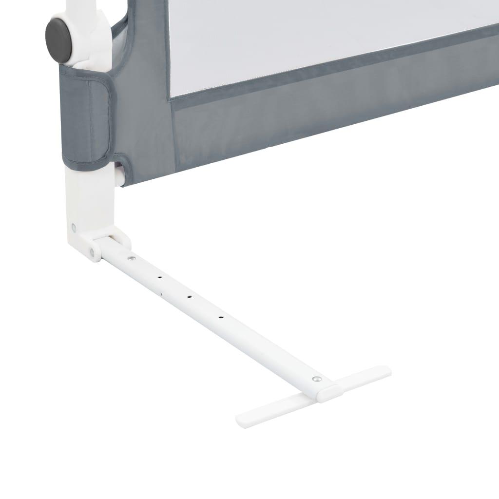 Dětská zábrana k postýlce šedá 102 x 42 cm polyester
