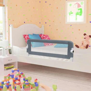 vidaXL Apsauginis turėklas vaiko lovai, pilk. sp., 102x42cm, poliest.[1/6]