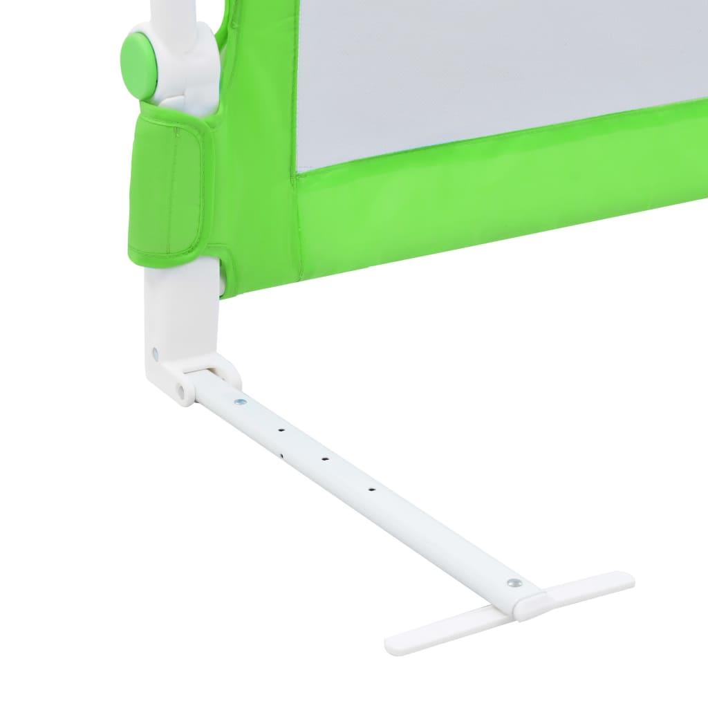 Dětská zábrana k postýlce zelená 120 x 42 cm polyester