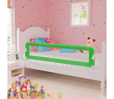 vidaXL Apsauginis turėklas vaiko lovai, žal. sp., 120x42cm, poliest.[1/6]