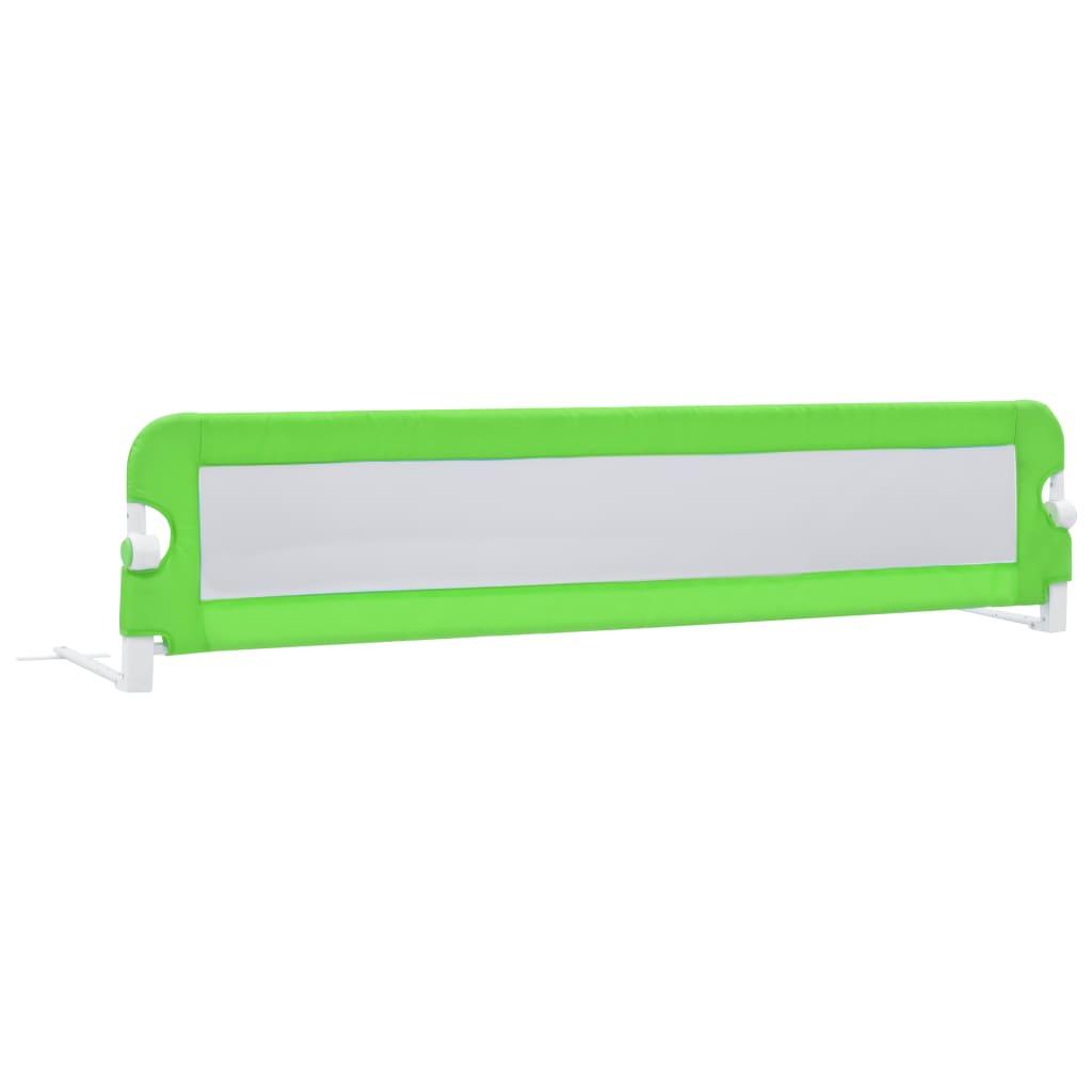 vidaXL Dětská zábrana k postýlce zelená 180 x 42 cm polyester