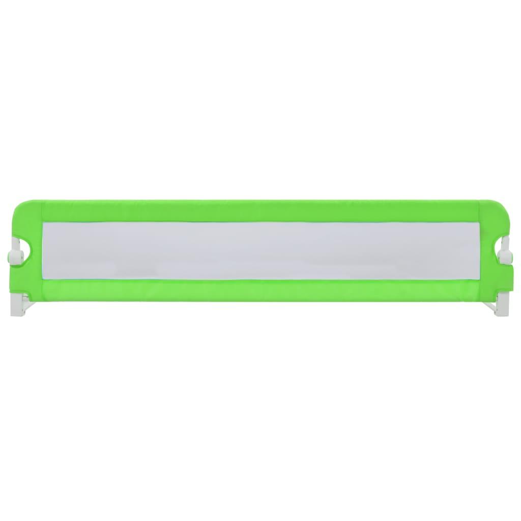 Dětská zábrana k postýlce zelená 180 x 42 cm polyester