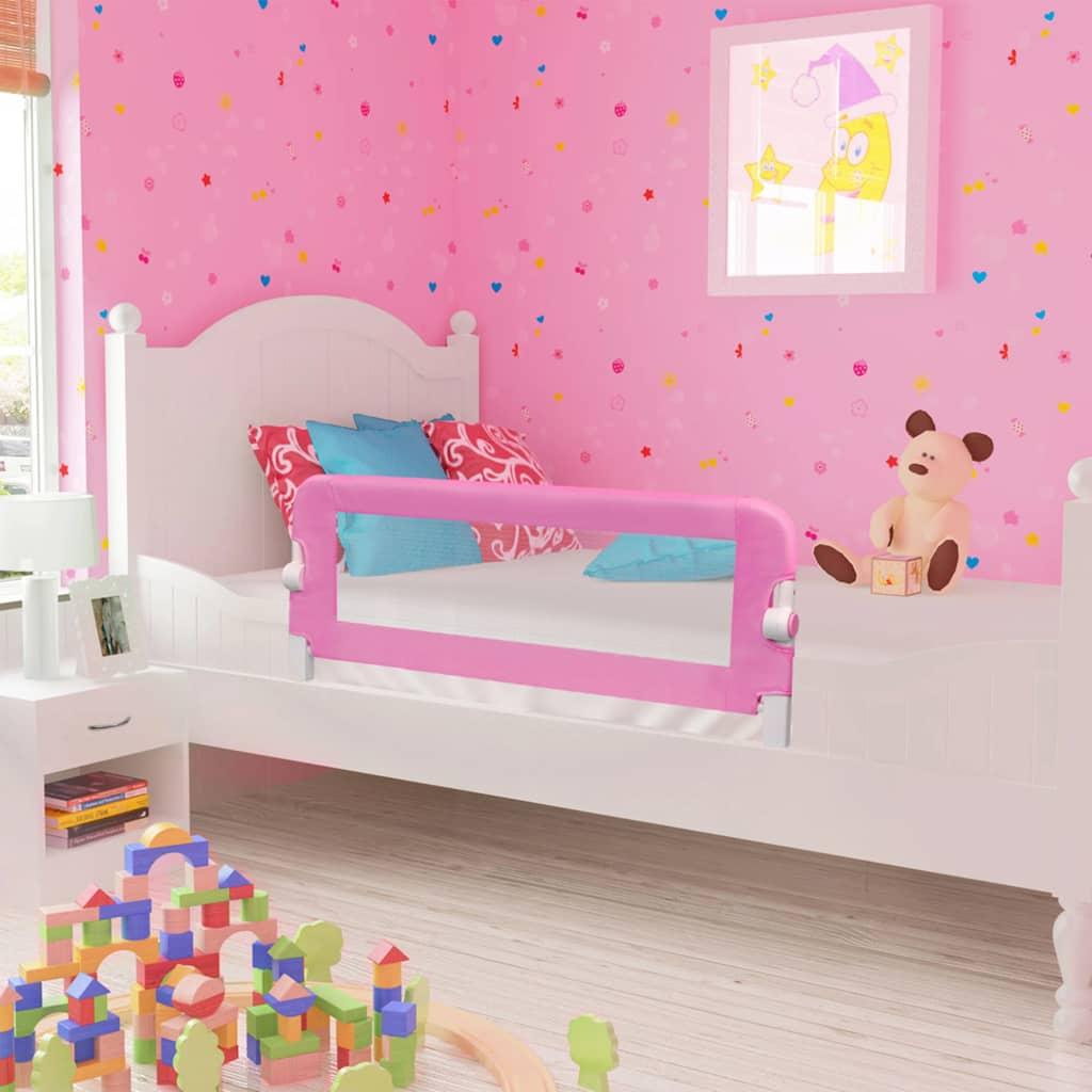 Voodipiire väikelapse voodile, roosa, 120 x 42 c..