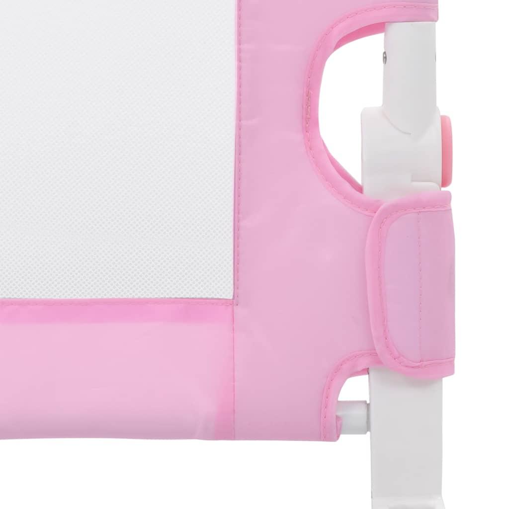 Dětská zábrana k postýlce růžová 180 x 42 cm polyester