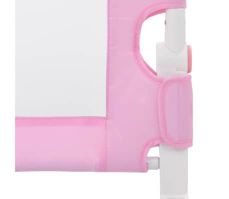 vidaXL Toddler Safety Bed Rail Pink 180x42 cm Polyester[5/6]
