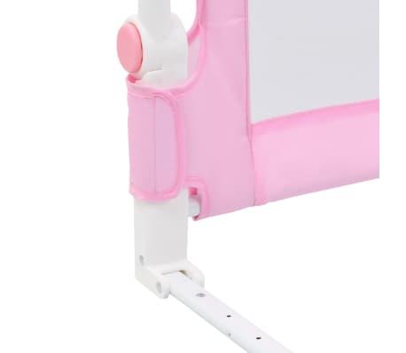vidaXL Toddler Safety Bed Rail Pink 180x42 cm Polyester[6/6]