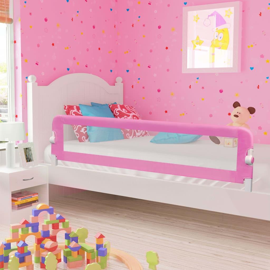 Voodipiire väikelapse voodile, roosa, 180 x 42 c..