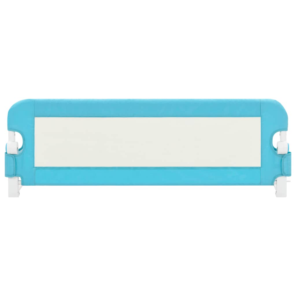 vidaXL Sigurnosna ogradica za dječji krevet plava 120x42 cm poliester