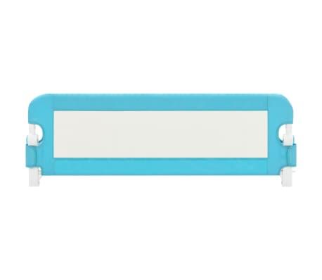 vidaXL Sängskena för barn blå 120x42 cm polyester[3/6]