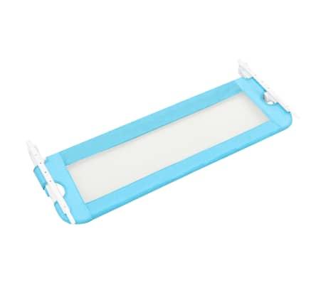 vidaXL Sängskena för barn blå 120x42 cm polyester[4/6]