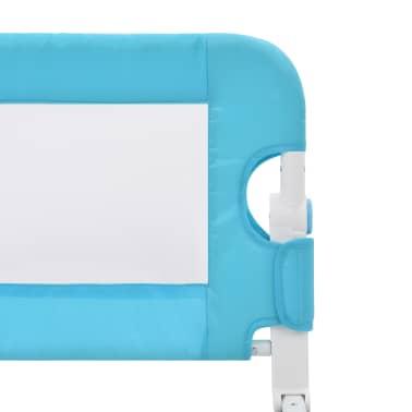 vidaXL Sängskena för barn blå 120x42 cm polyester[5/6]